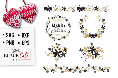 Christmas frames SVG pack