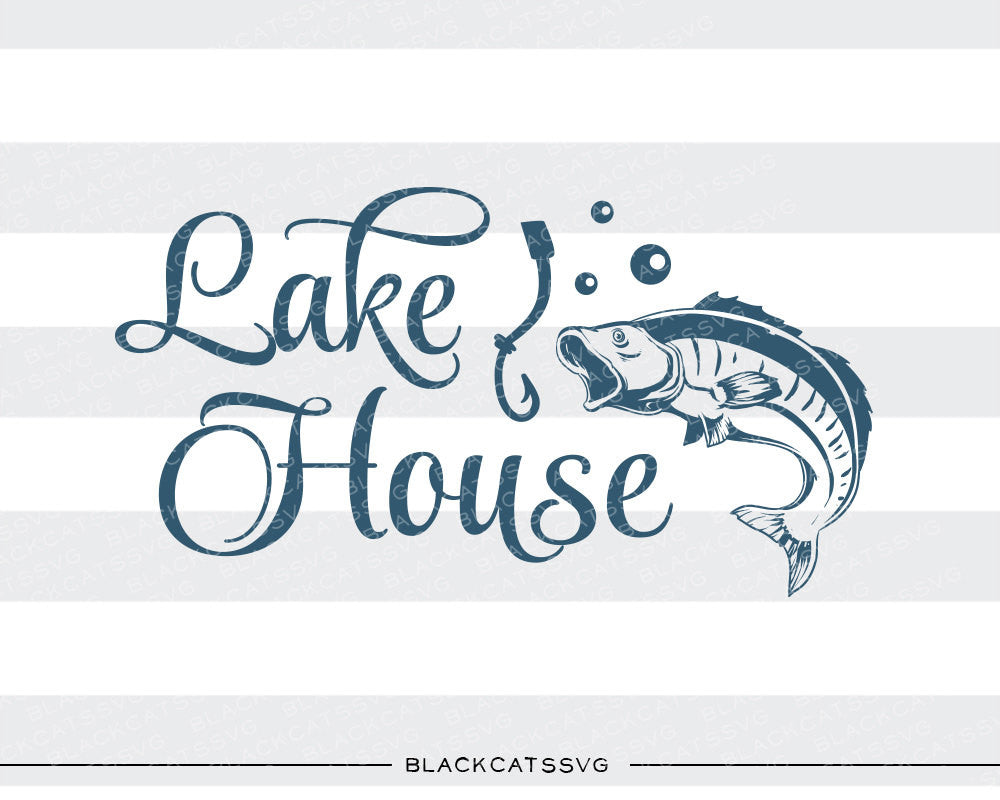 Lake house -  SVG file Cutting File Clipart in Svg, Eps, Dxf, Png for Cricut & Silhouette - BlackCatsSVG