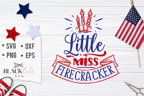 Little Miss firecracker SVG file Cutting File Clipart in Svg, Eps, Dxf, Png for Cricut & Silhouette