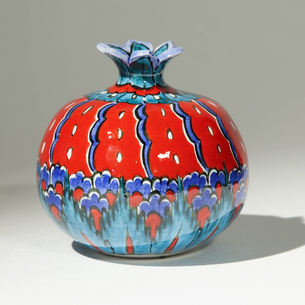 Large Ceramic Pomegranate - Hand Painted