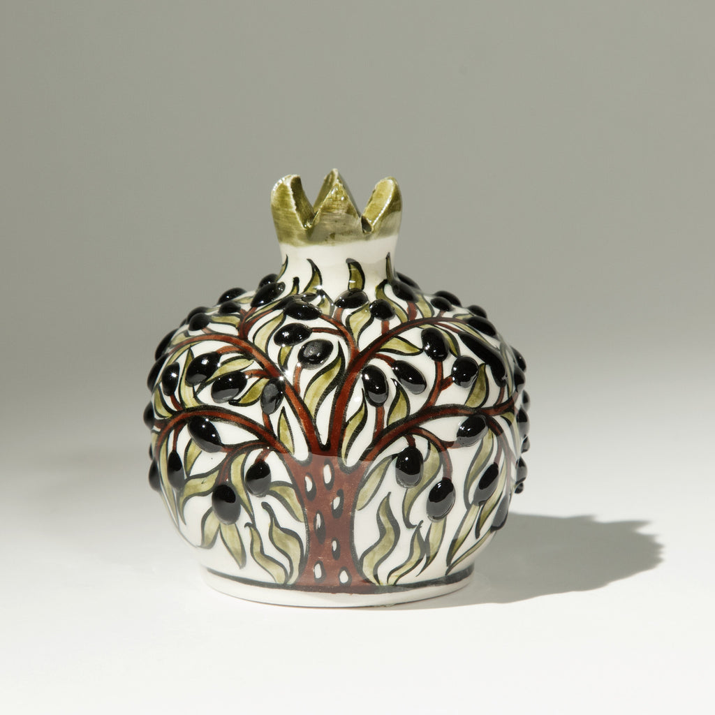 Small Ceramic Pomegranate - Hand Painted
