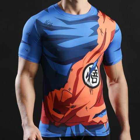 Goku Battle Torn Dry-Fit Shirt
