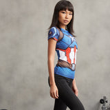 Captain America Women's Dry-Fit Tee
