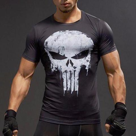 Super Hero Shirt - Punisher Compression Shirt