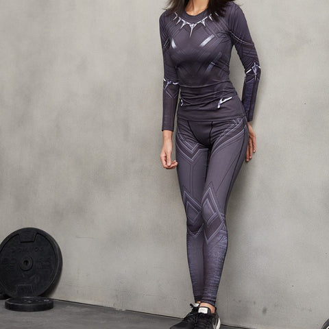 Women's Compression Leggings - Black Panther Women's Leggings