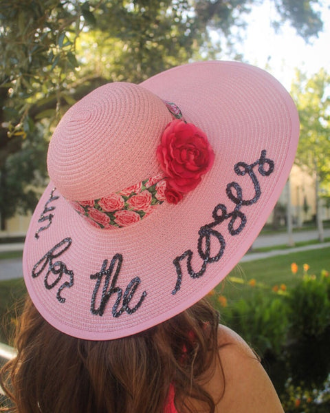 Kentucky Derby Run for the Roses Honeymoon Hat™ and Straw Clutch Bag Discount Package