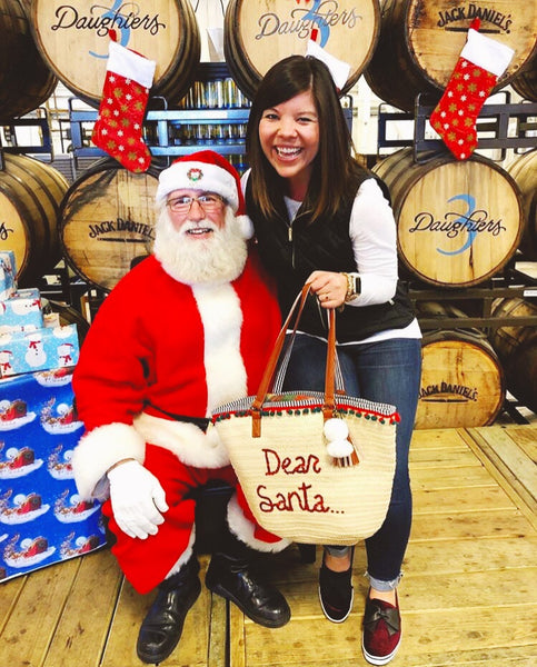 Dear Santa... Woven Christmas Beach Tote Bag