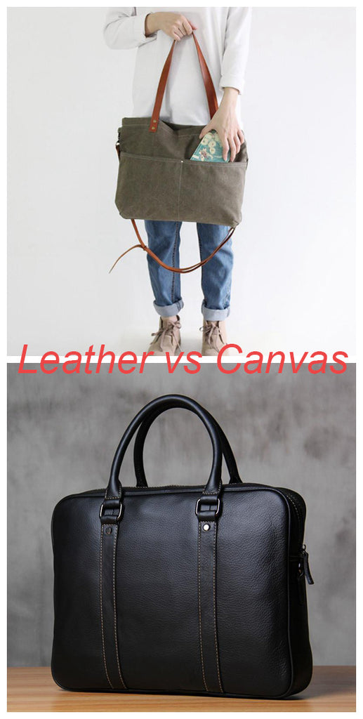Leather Bags vs Canvas Bags: Which one is the perfect for you?