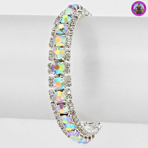 Irridescent Crystal Stretch Bracelet 2976