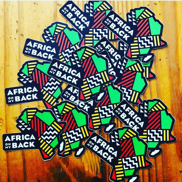 Africa On My Back Stickers - Set of 10 - Africa On My Back Backpack