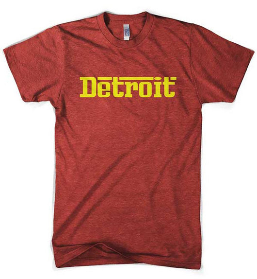 Mens Detroit Rosso T-shirt (Heather Red) | Detroit Shirt Co.
