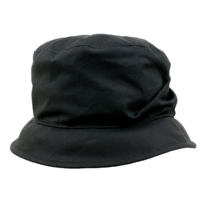Olney Headwear Dixie Black Ladies Waxed Rain Hat Front View