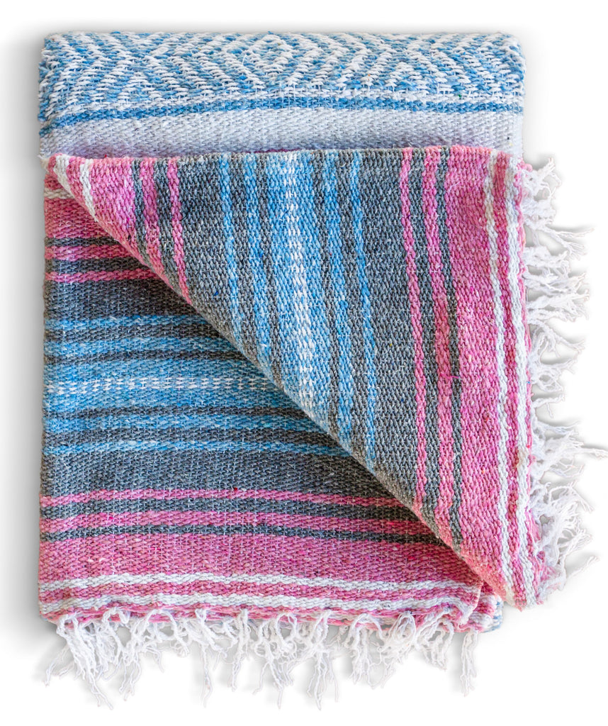 Mexican Falsa Blanket (Azure Blush)
