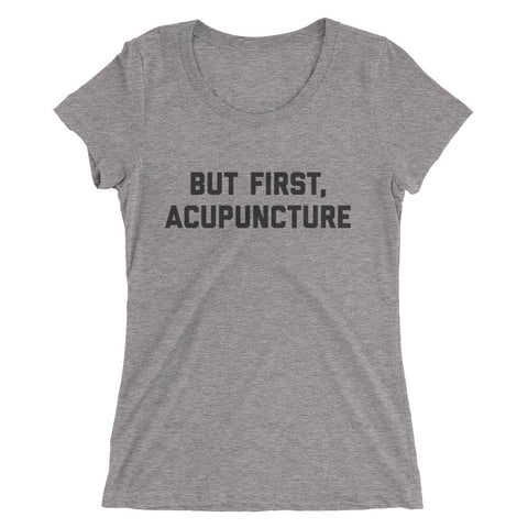 ACUPUNCTURE - Ladies' short sleeve t-shirt black script