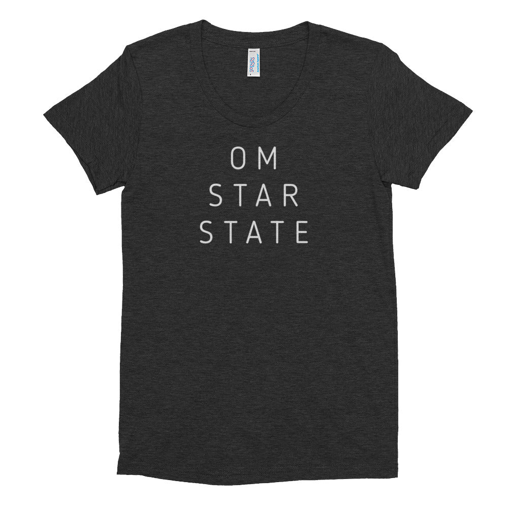 OM STAR STATE - Women's Crew Neck Triblend T-shirt