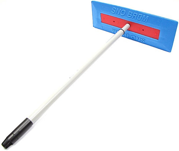 SnoBrum Auto Snow Removal Tool with Telescoping Pole Handle and Foam Head