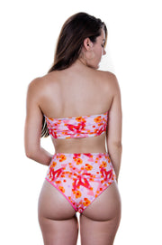 Alula bottom reversible - coral & stars print