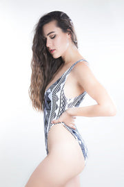 albaenid Alya high-rise one-piece swimsuit