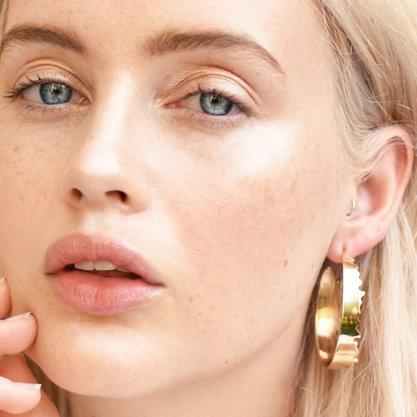 All Torn Up Hoops BRASS