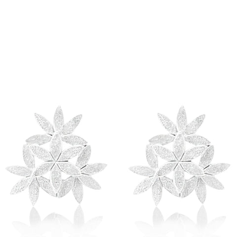 Floral Adorn Earrings SILVER