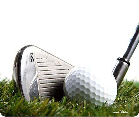 3 Iron Golf Club Hitting Golf Ball Mousepad by Atomic Market