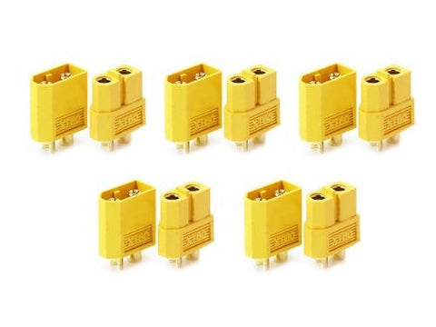 5 Pairs XT-60 XT60 Male Female Bullet Connectors Plugs For RC Lipo Battery by Atomic Market