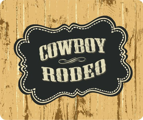 Cowboy Rodeo Thick Mouse Pad