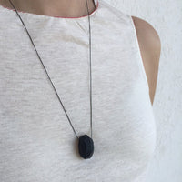 polymer Elliptical Pendant Necklace