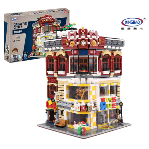 XINGBAO Building Series XB-01006 The Toys and Bookstore Set Building Blocks Bricks Toys Model - Your World of Building Blocks