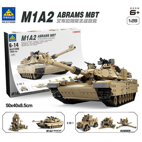 KAZI KY 10000 The M1A2 MBT & HUMMER - Your World of Building Blocks
