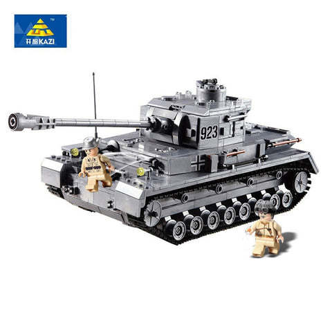 KAZI KY 82010 The Germany Armored Tanks Panzer IV F2 Type - Your World of Building Blocks