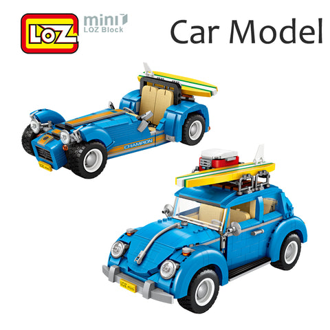 LOZ 1114 2 in 1 Beetle and Caterham - Your World of Building Blocks