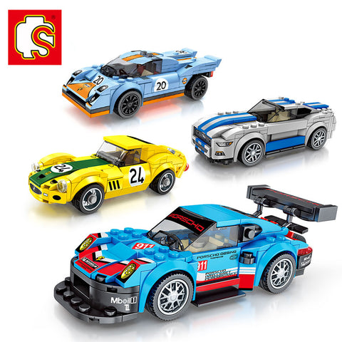 SEMBO 607017-607020 Mini racing cars