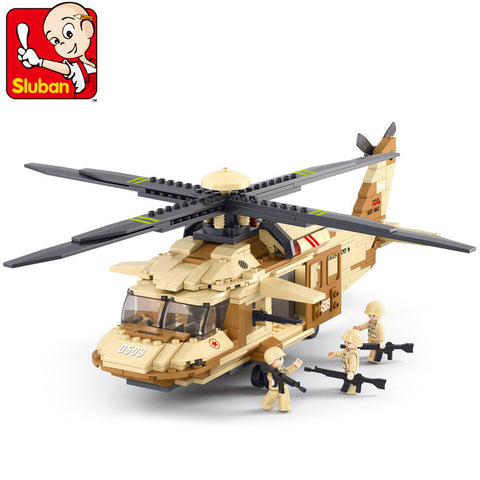 SLUBAN Military Series N0.0509 UH-60L The Black Hawk Helicopter Set Building Blocks Toy Model - Your World of Building Blocks