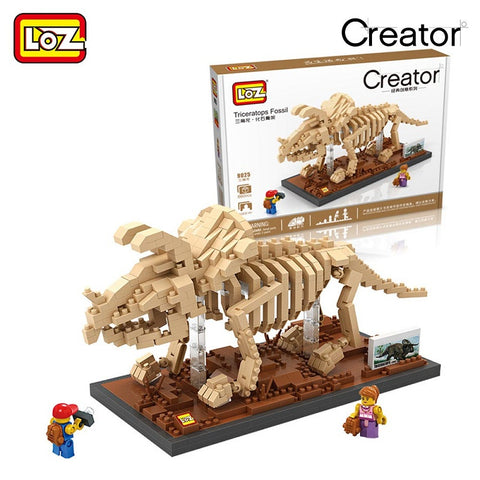 LOZ 9025 Triceratops Fossil - Your World of Building Blocks