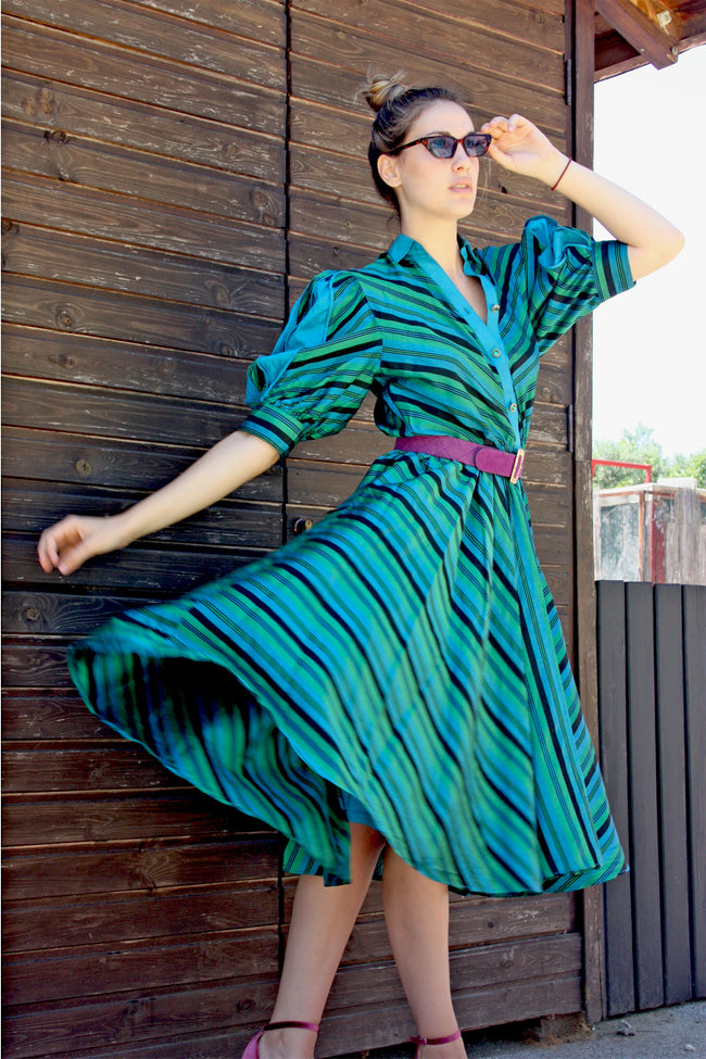 Vintage 60's fashion silk dress - Shop SoLovesVintage