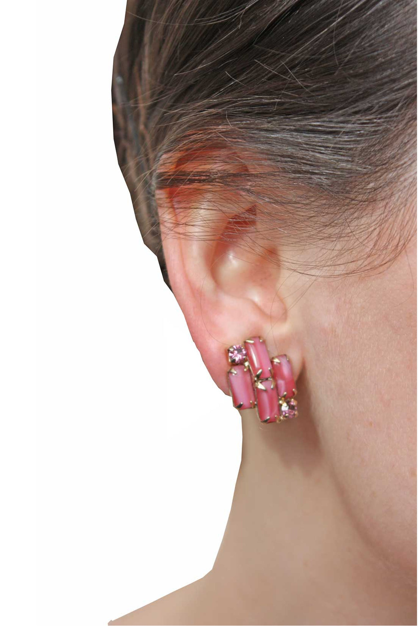Vintage Maria pink earrings