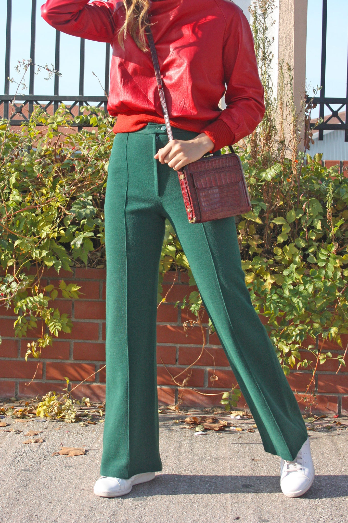 Vintage wool green trousers - SoLovesVintage