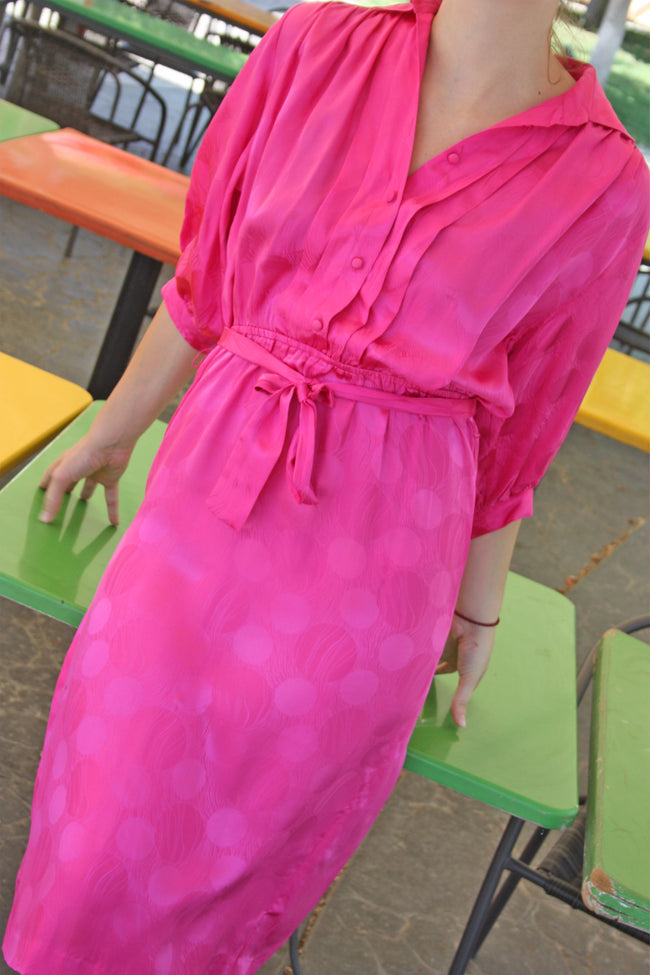 Vintage silk 80's retro dress online - Shop SoLovesvintage