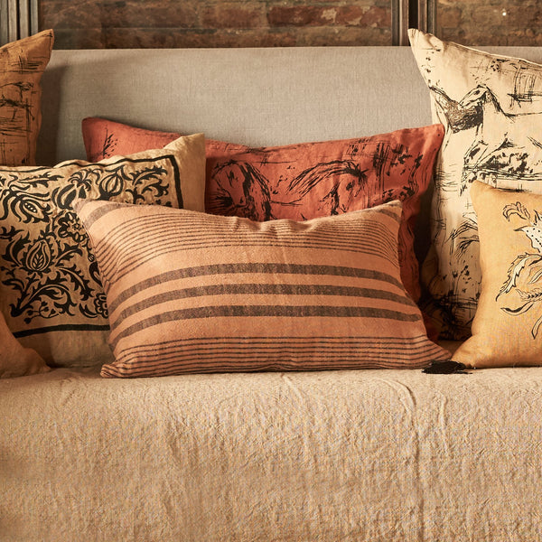 Cushion Cover · Pure Washed Linen · Stripes