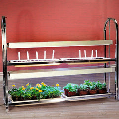 2 Tier Grow Light/Plant Stand (4 Trays)