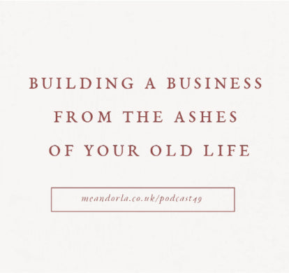 Hashtag Authentic Episode 49 : Building a creative business from the ashes of your old life
