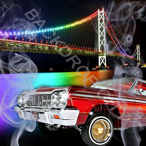 Car&Bridge Computer Printed Backdrop - Backdrop City