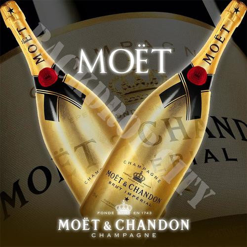 Deuce Moet Computer Printed Backdrop - Backdrop City