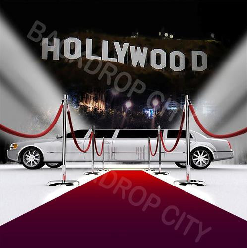 Hollywood Limo Computer Printed Backdrop - Backdrop City