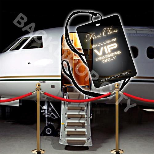 VIP Plane  Computer Printed Backdrop - Backdrop City