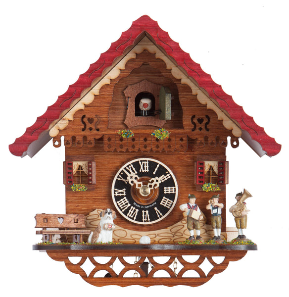 "Hones 8.5"" 1 Day Chalet Cuckoo Clock Featuring Band 1761"