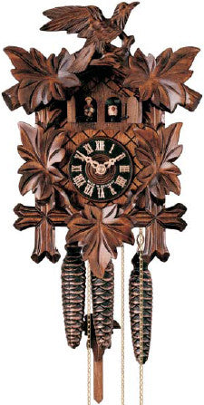 "Hones 11"" 1 Day Carved Music 600/2E Cuckoo Clocks"