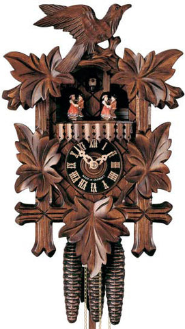 "Hones 15"" 1 Day Carved Music 600/3T Cuckoo Clock"