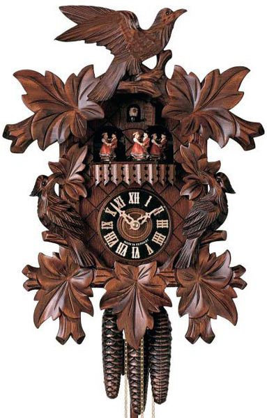 "Hones 15"" 1 Day Carved Music 601/3T Cuckoo Clock"